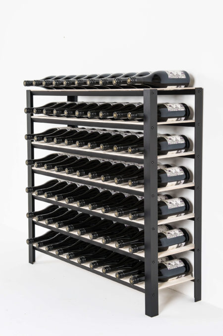 classic wine rack which holds 70 bottles