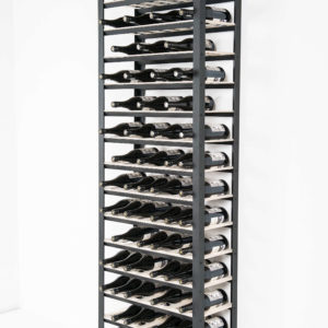 classic wine rack with 15 shelves and 150 bottle capacity