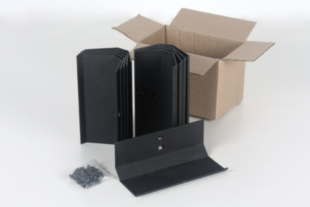 Black Wine cradles in a box